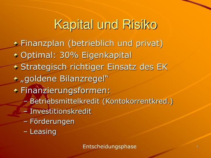 Kapital und Risiko