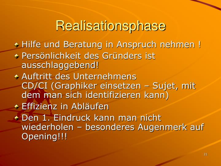 Realisationsphase