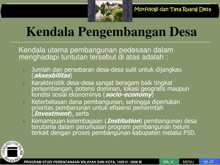 Morfologi dan Tata Ruang Desa