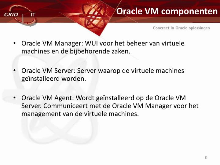 Oracle VM componenten