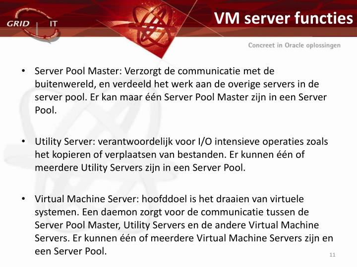 VM server functies