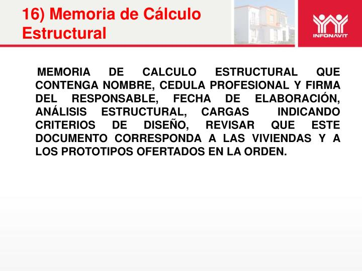 16) Memoria de Cálculo Estructural