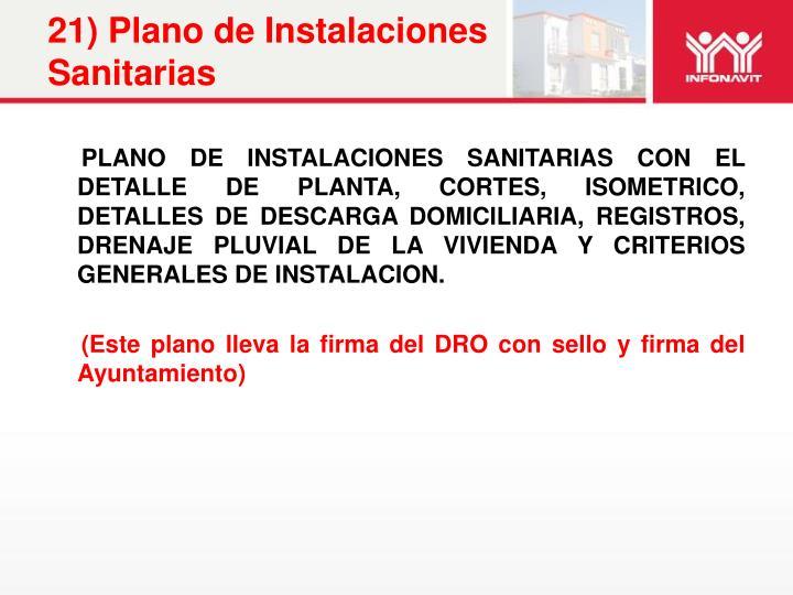 21) Plano de Instalaciones Sanitarias
