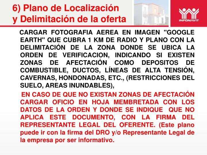 6) Plano de Localización y Delimitación de la oferta