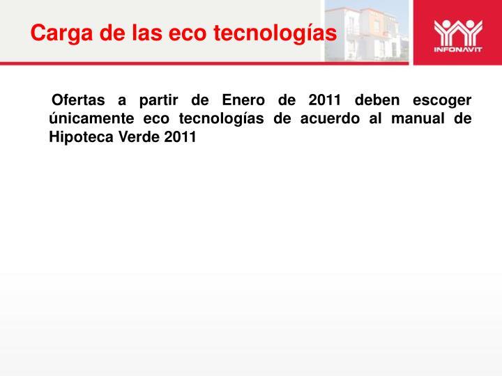 Carga de las eco tecnologías