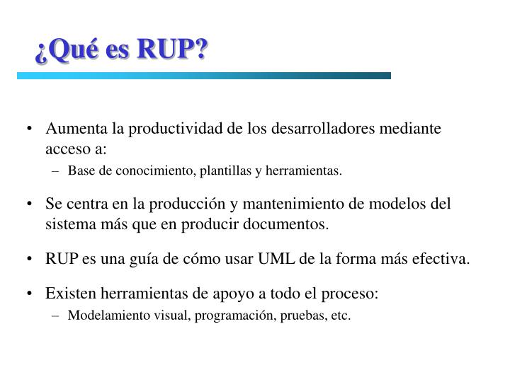 ¿Qué es RUP?