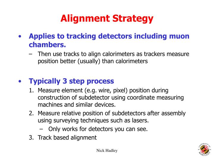Alignment Strategy