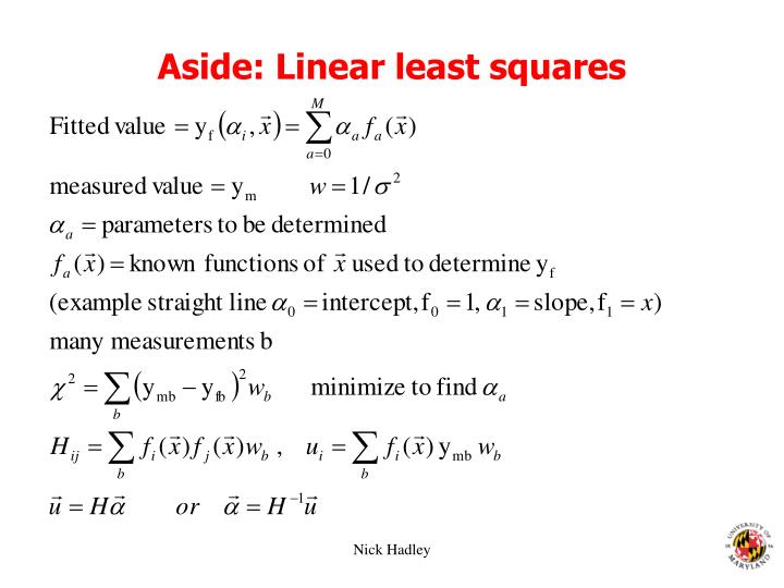 Aside: Linear least squares