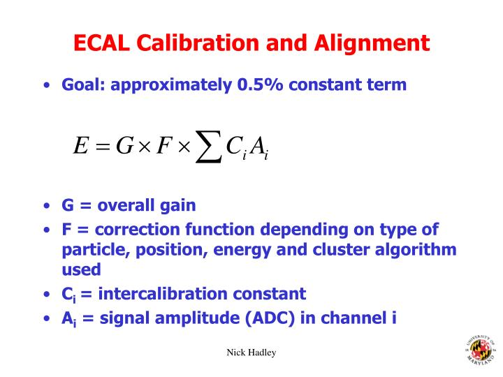 ECAL Calibration and Alignment