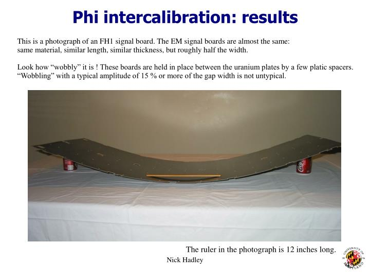 Phi intercalibration: results