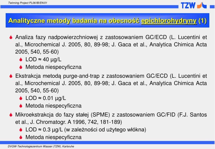 Analityczne metody badania na obecność