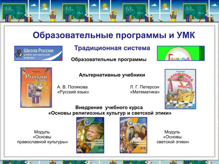 Образовательные программы и УМК