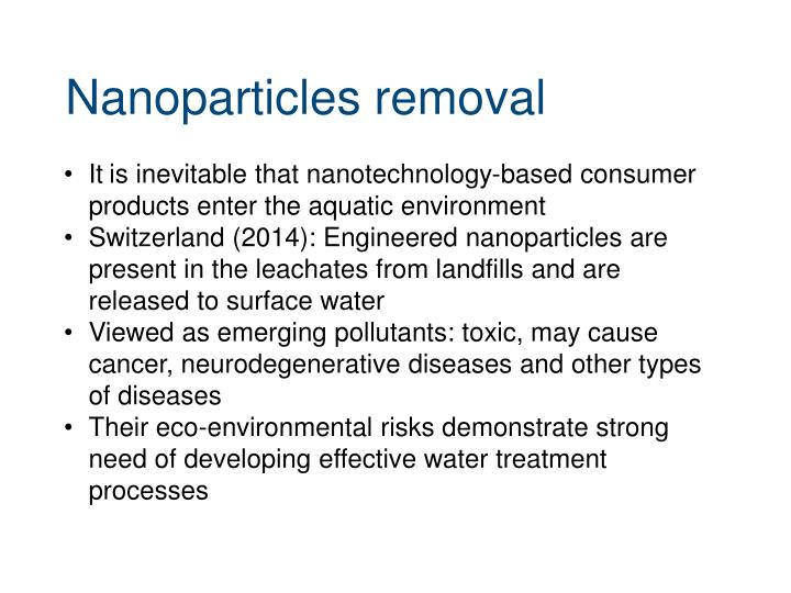 Nanoparticles removal