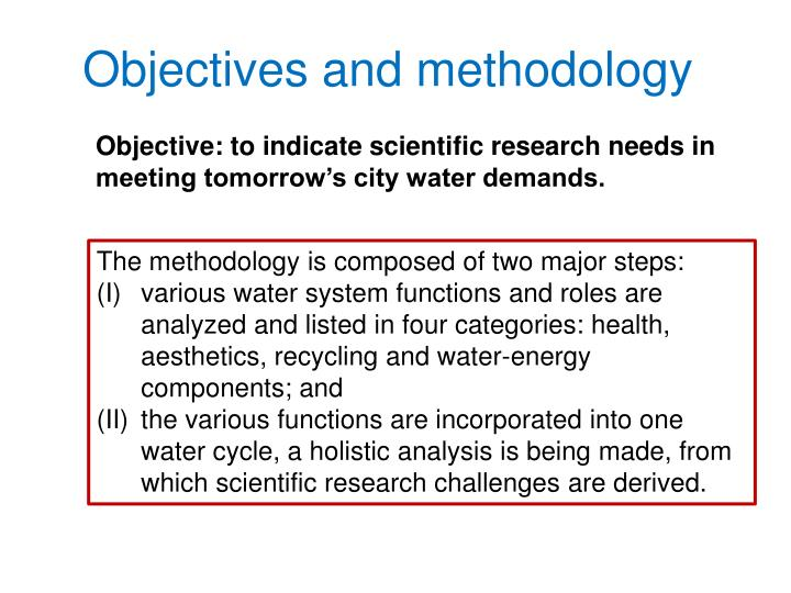 Objectives and methodology