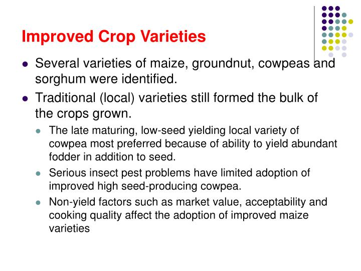Improved Crop Varieties