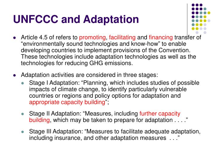 UNFCCC and Adaptation
