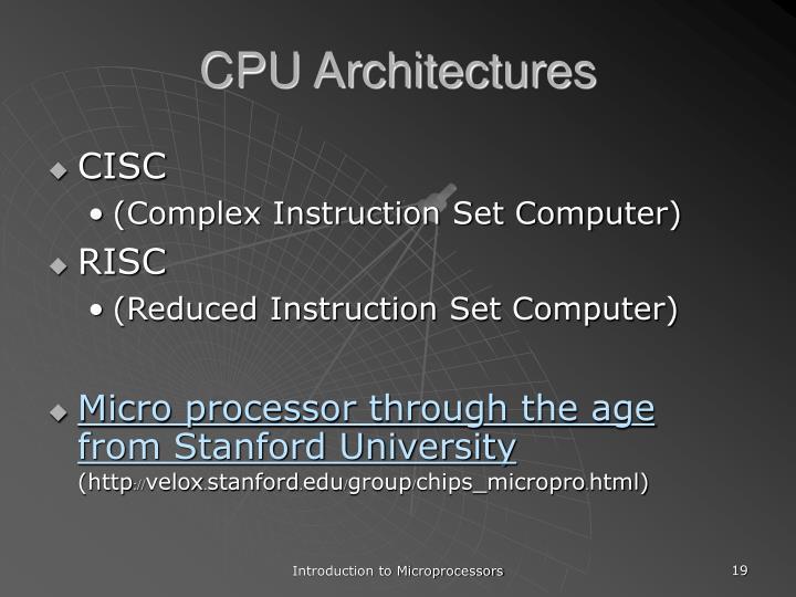 CPU Architectures