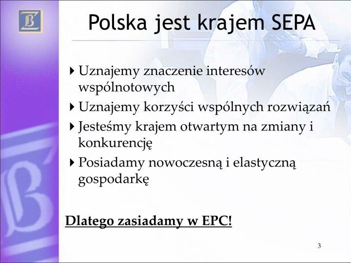 Polska jest krajem SEPA