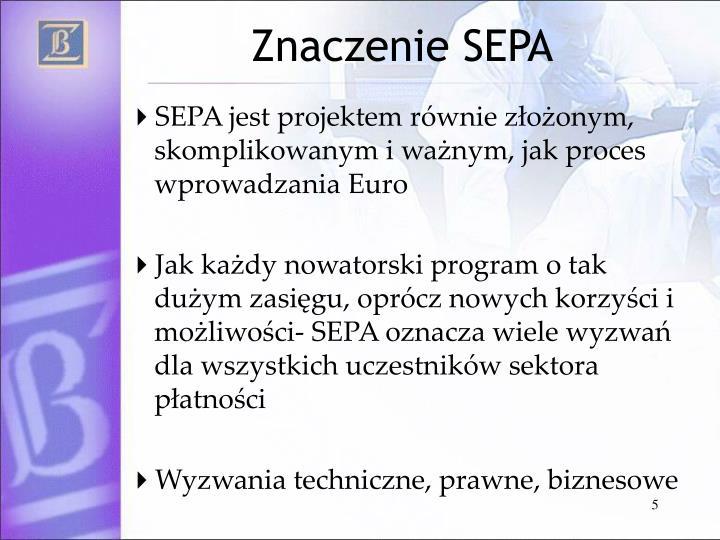 Znaczenie SEPA