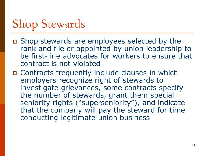 Shop Stewards