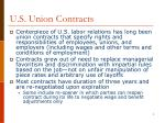 u s union contracts