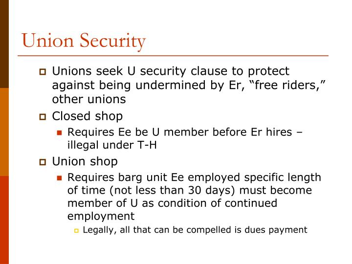 Union Security