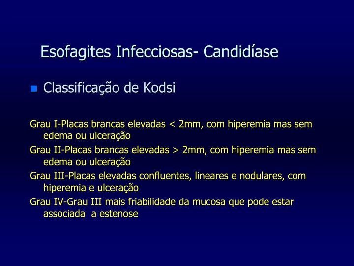 Esofagites Infecciosas- Candidíase