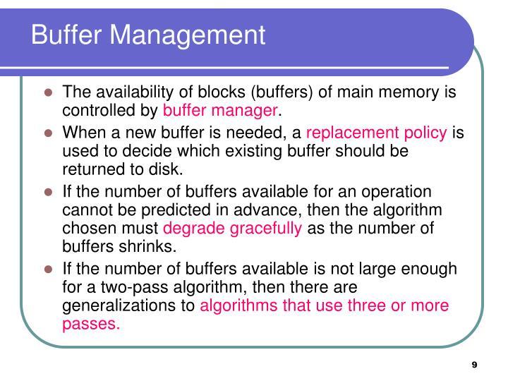 Buffer Management
