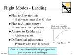 flight modes landing