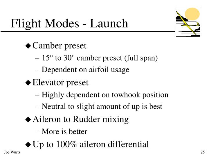Flight Modes - Launch