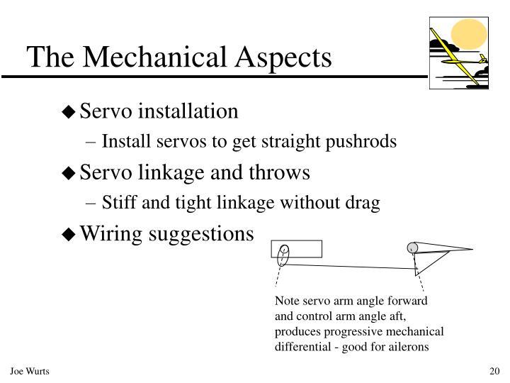 Note servo arm angle forward