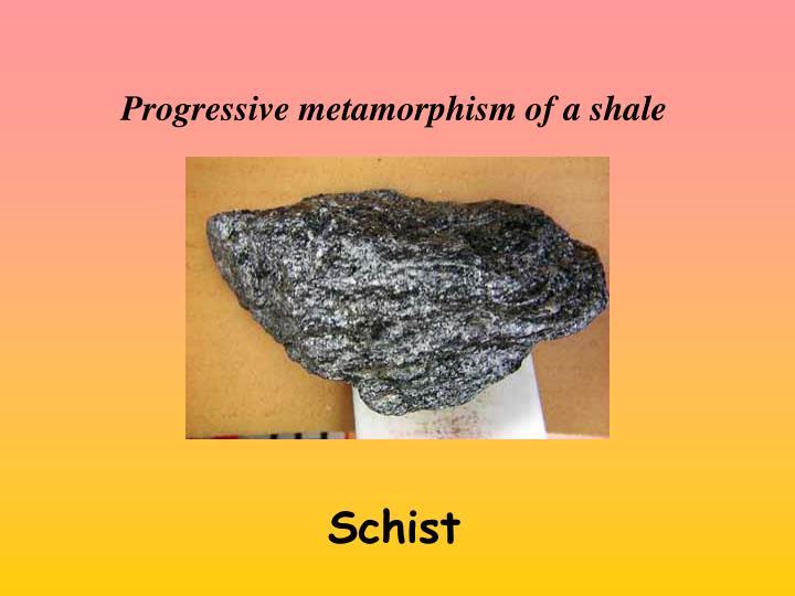 Progressive metamorphism of a shale
