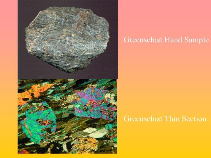 Greenschist Hand Sample