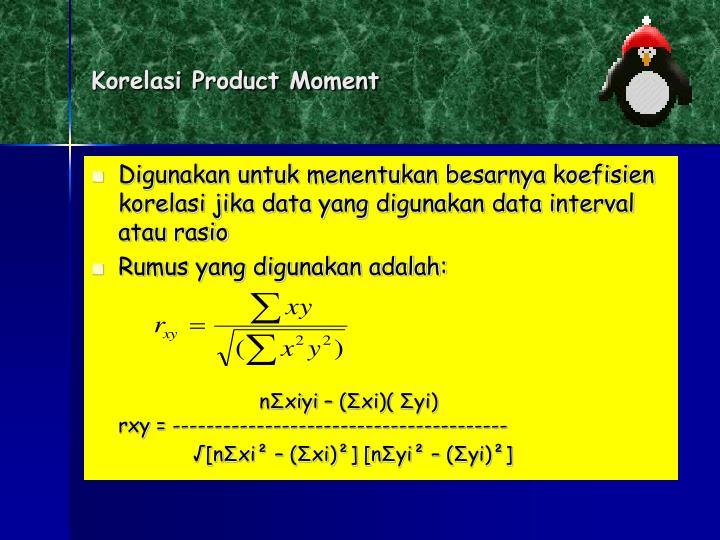 Korelasi Product Moment