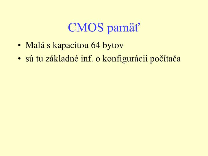 CMOS pamäť