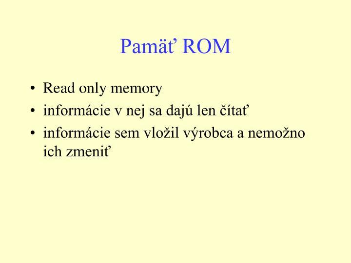 Pamäť ROM