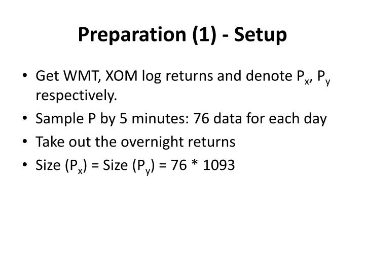 Preparation (1) - Setup