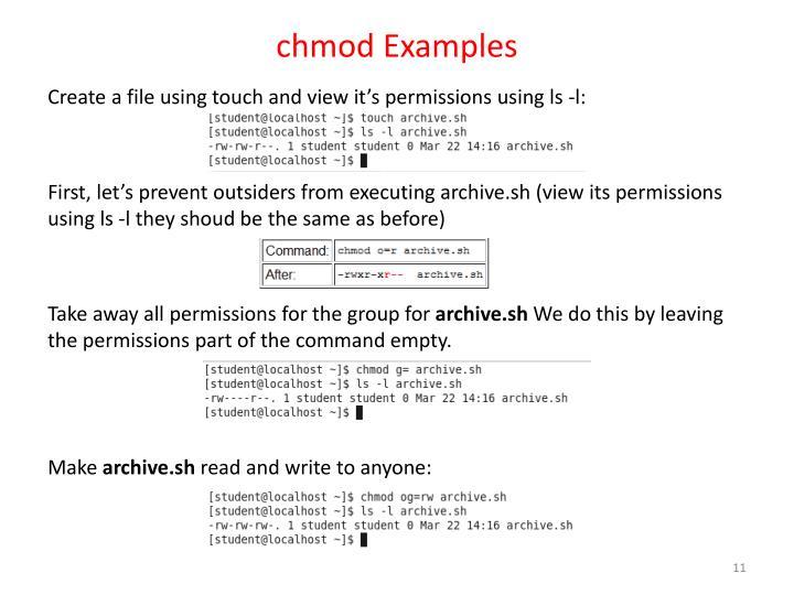 chmod Examples