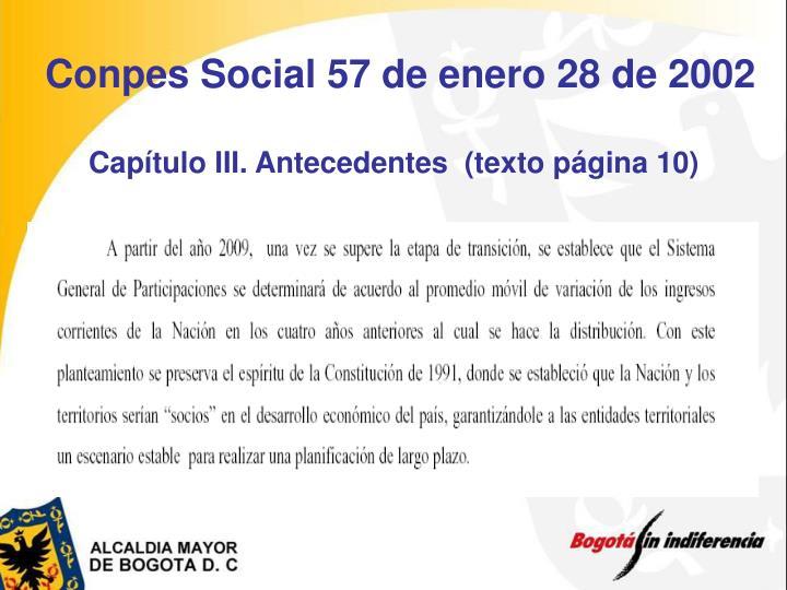 Conpes Social 57 de enero 28 de 2002