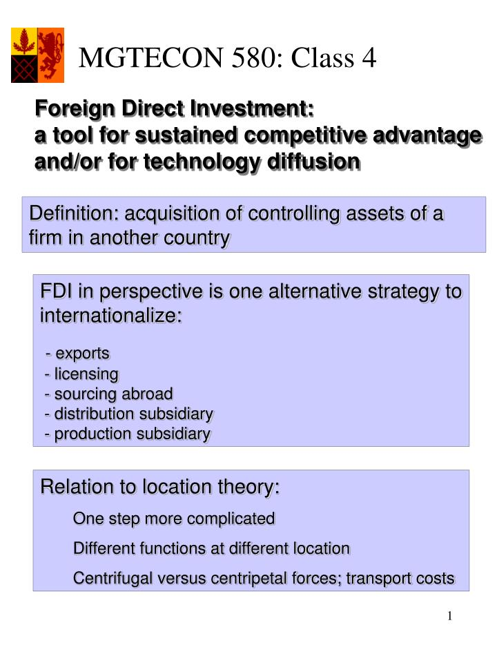thesis on attracting direct foreign investment The relationship between foreign direct investment thesis research bs attracting foreign direct investment to ghana.