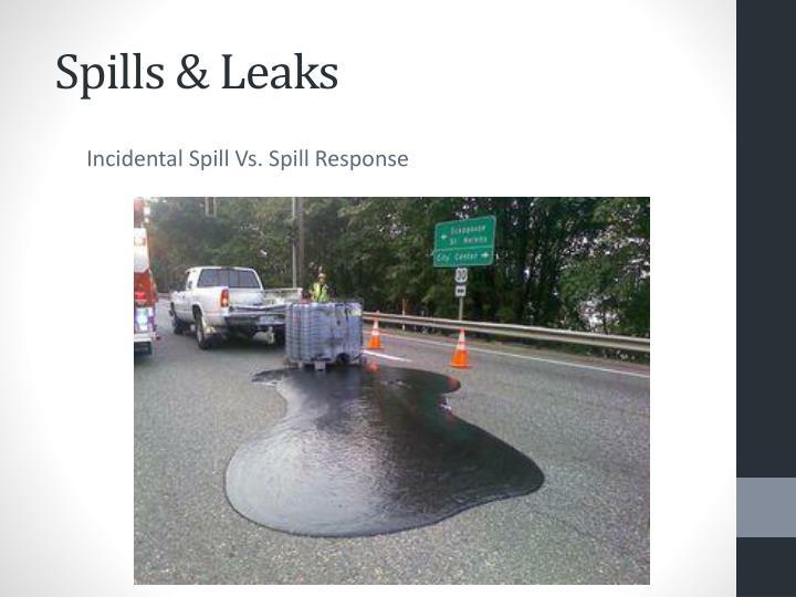 Spills & Leaks