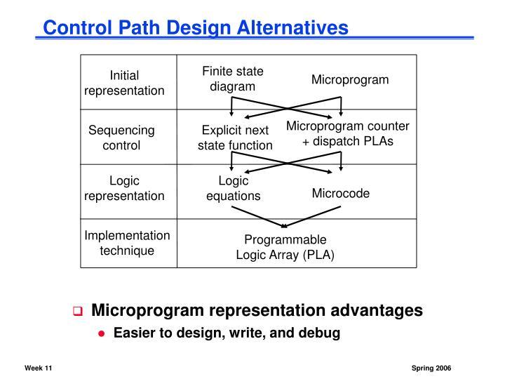 Control Path Design Alternatives