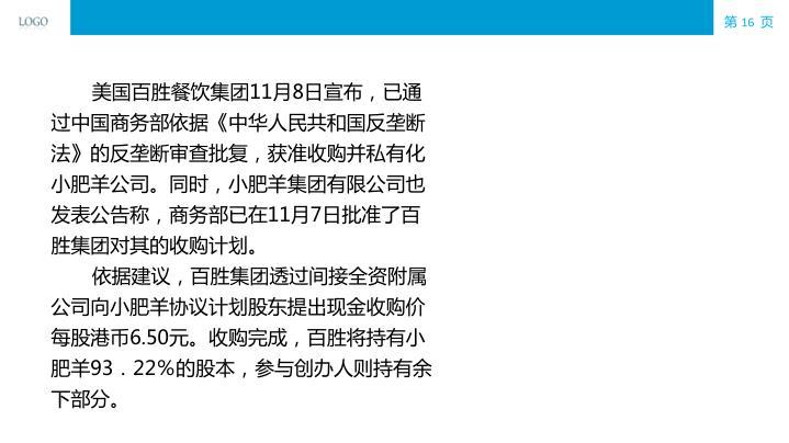 美国百胜餐饮集团11月8日宣布,已通过中国商务部依据《中华人民共和国反垄断法》的反垄断审查批复,获准收购并私有化小肥羊公司。同时,小肥羊集团有限公司也发表公告称,商务部已在11月7日批准了百胜集团对其的收购计划。