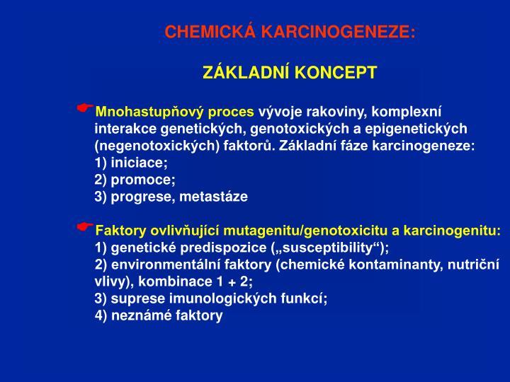 CHEMICKÁ KARCINOGENEZE: