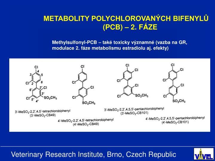 METABOLITY POLYCHLOROVANÝCH BIFENYLŮ (PCB) – 2. FÁZE