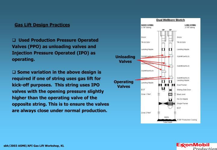 Gas Lift Design Practices