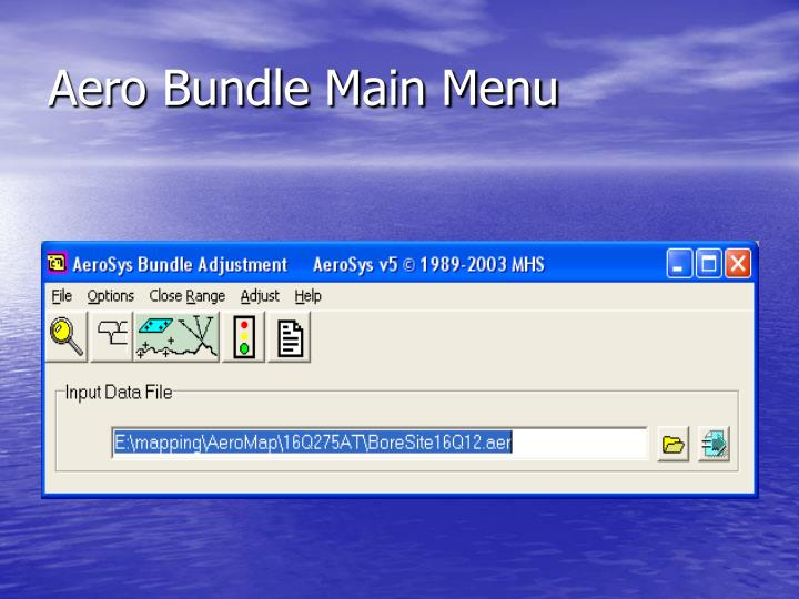 Aero Bundle Main Menu