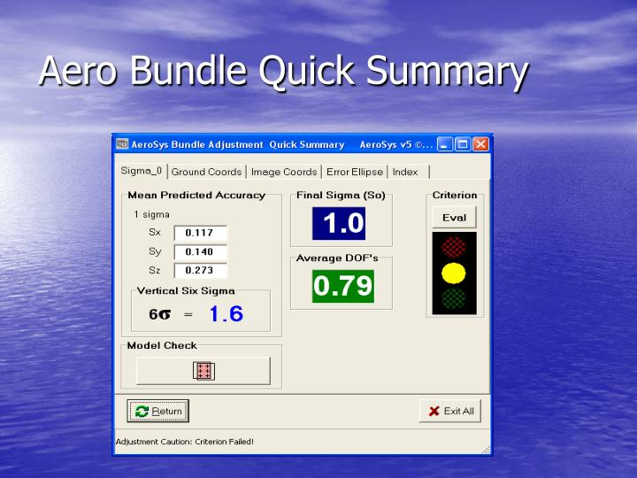 Aero Bundle Quick Summary