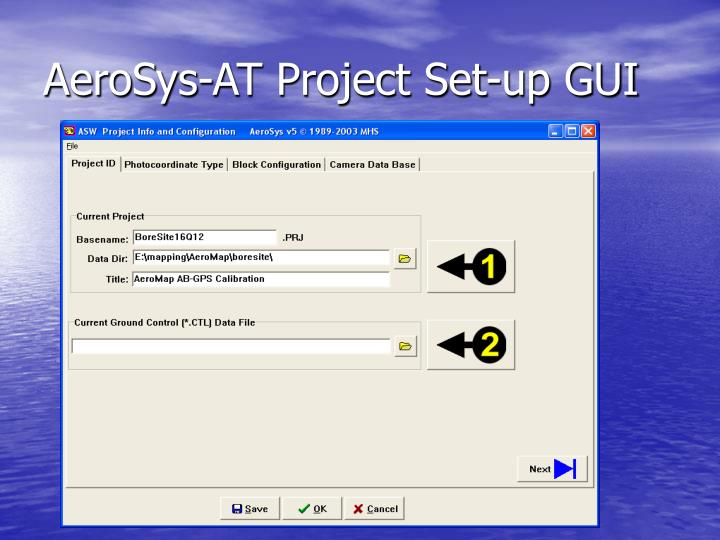 AeroSys-AT Project Set-up GUI