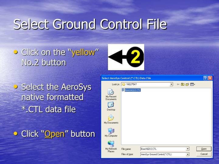 Select Ground Control File